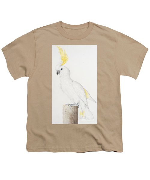 Sulphur Crested Cockatoo Youth T-Shirt by Nicolas Robert