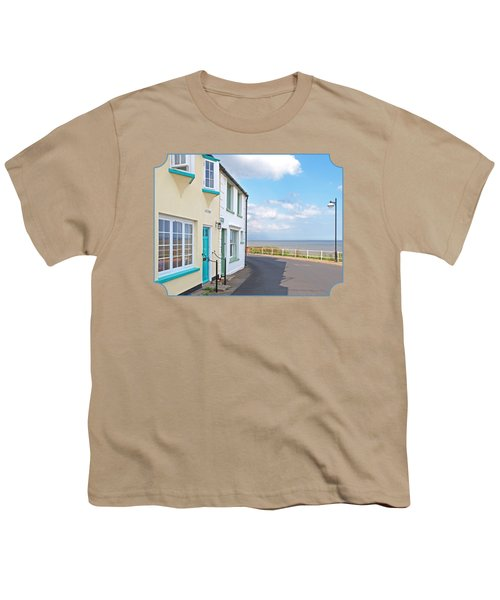 Sunny Outlook - Southwold Seafront Youth T-Shirt by Gill Billington