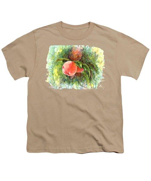 Sunny Peaches Youth T-Shirt by Irina Viatkina