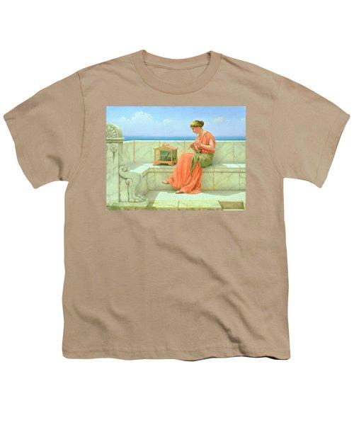 Sweet Sounds Youth T-Shirt by John William Godward