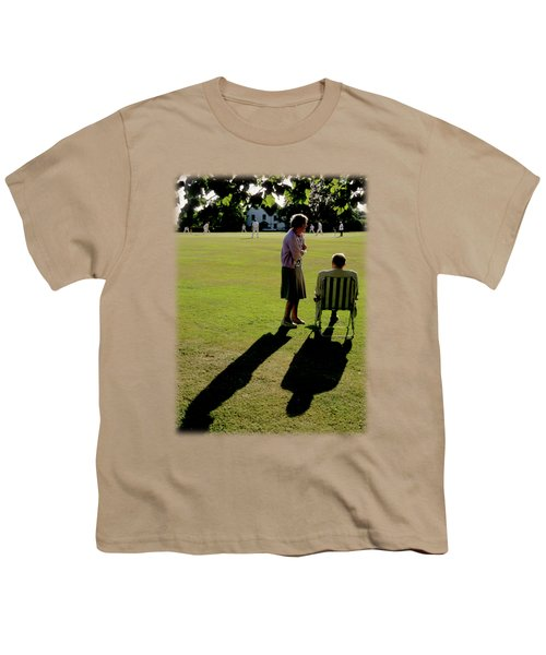 The Cricket Match Youth T-Shirt by Jon Delorme