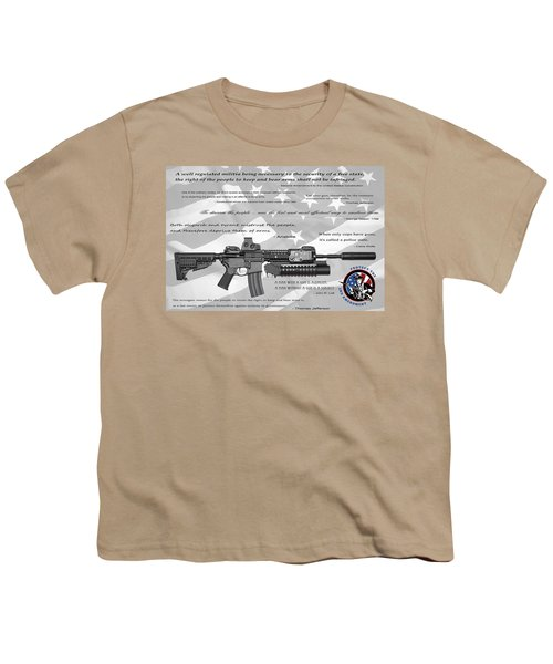 The Right To Bear Arms Youth T-Shirt by Daniel Hagerman