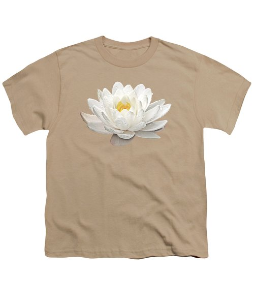 Water Lily Whirlpool Youth T-Shirt by Gill Billington
