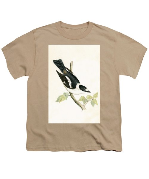White Collared Flycatcher Youth T-Shirt by English School
