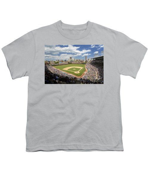 0415 Wrigley Field Chicago Youth T-Shirt by Steve Sturgill
