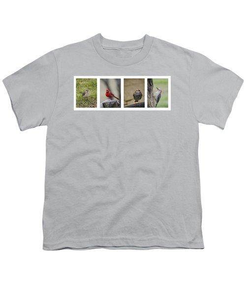 Backyard Bird Series Youth T-Shirt by Heather Applegate