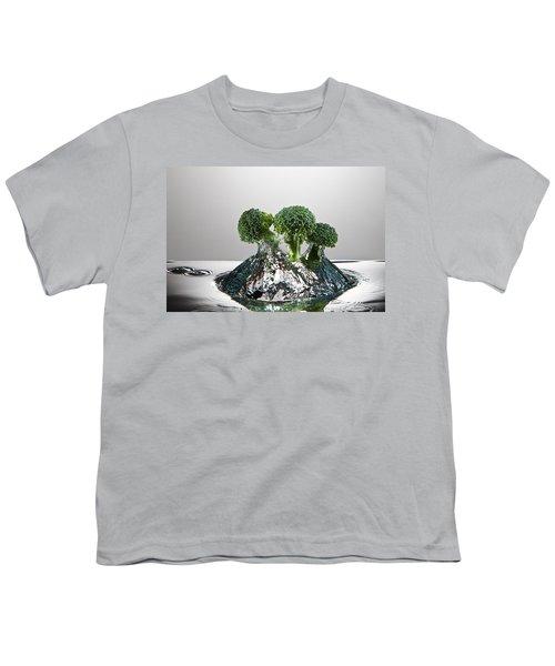Broccoli Freshsplash Youth T-Shirt by Steve Gadomski