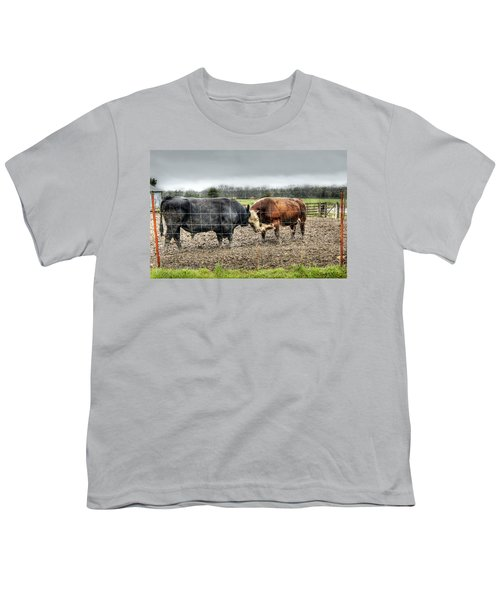 Head To Head Youth T-Shirt by Cricket Hackmann