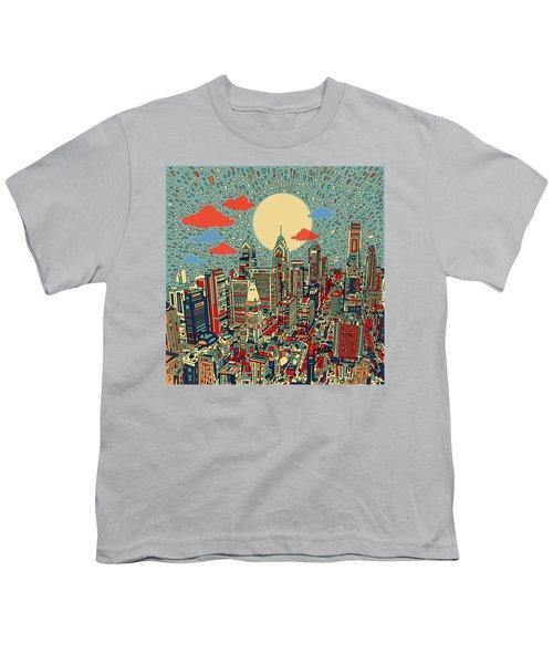 Philadelphia Dream 2 Youth T-Shirt by Bekim Art