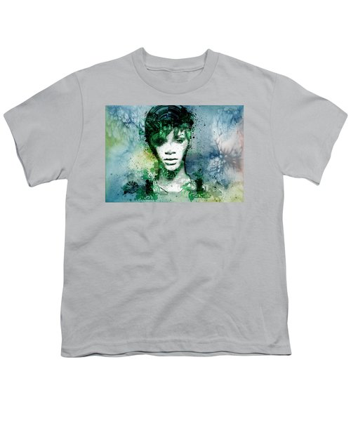 Rihanna 4 Youth T-Shirt by Bekim Art