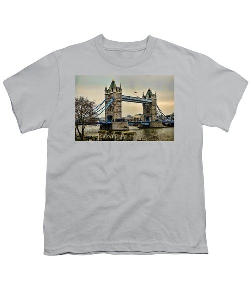 Tower Bridge On The River Thames Youth T-Shirt by Heather Applegate
