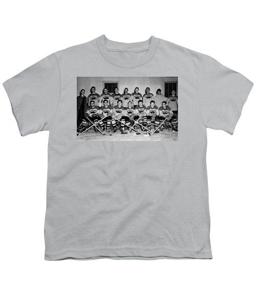 University Of Michigan Hockey Team 1947 Youth T-Shirt by Mountain Dreams