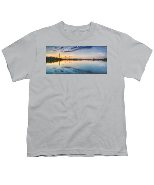 Washington Dc Panorama Youth T-Shirt by Sebastian Musial