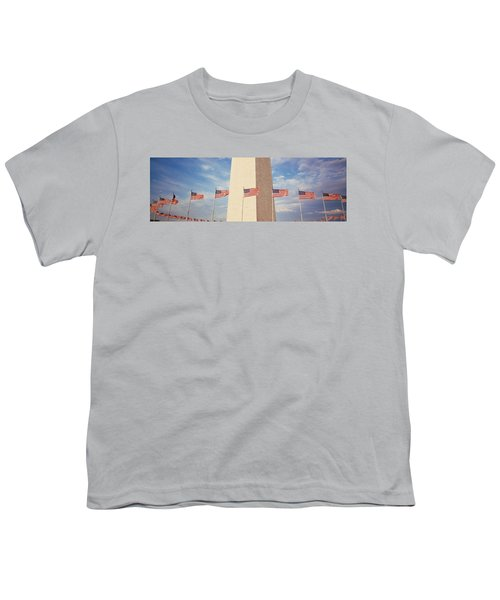 Washington Monument Washington Dc Usa Youth T-Shirt by Panoramic Images