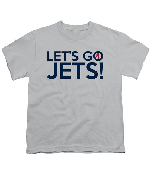 Let's Go Jets Youth T-Shirt by Florian Rodarte