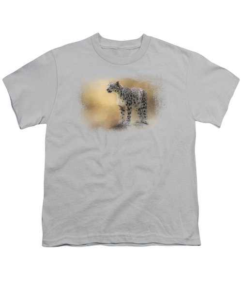 Snow Leopard Youth T-Shirt by Jai Johnson