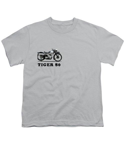 Triumph Tiger 80 1937 Youth T-Shirt by Mark Rogan