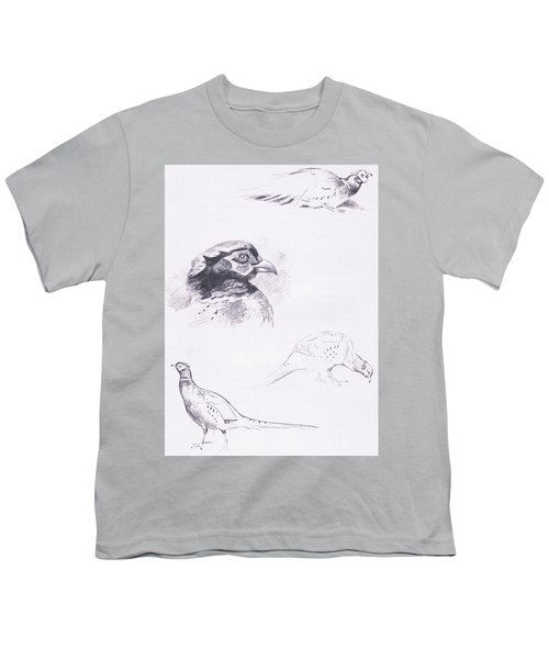 Pheasants Youth T-Shirt by Archibald Thorburn