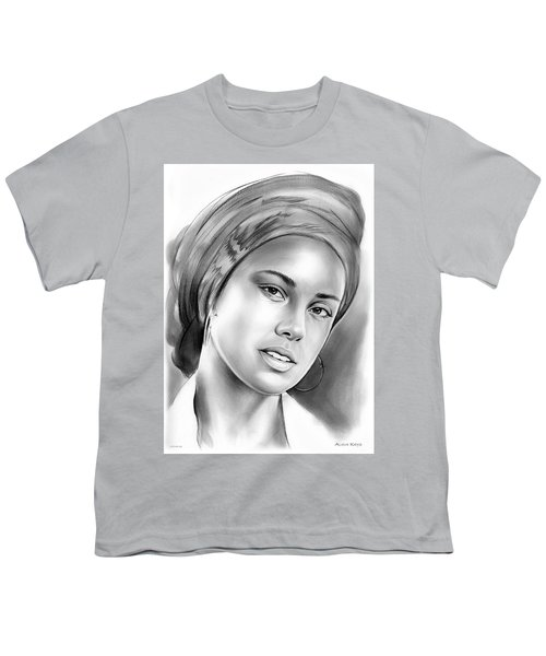 Alicia Keys Youth T-Shirt by Greg Joens