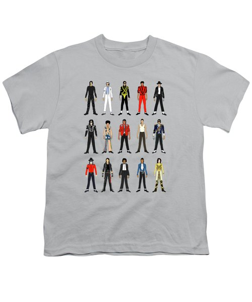 Outfits Of Michael Jackson Youth T-Shirt by Notsniw Art