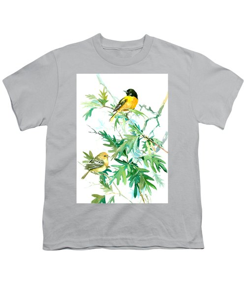 Baltimore Orioles And Oak Tree Youth T-Shirt by Suren Nersisyan