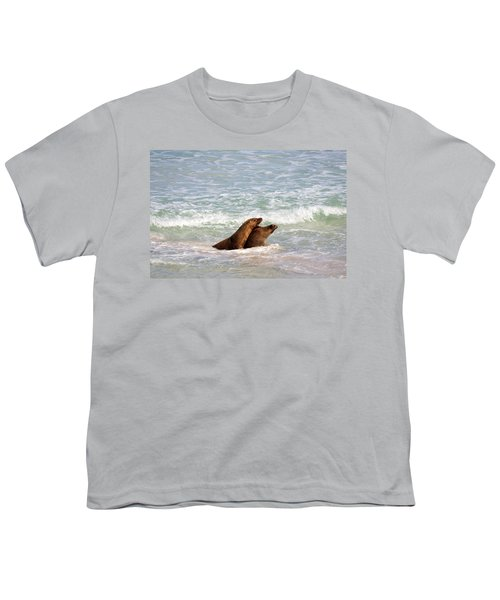 Battle For The Beach Youth T-Shirt by Mike  Dawson