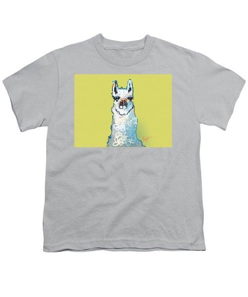 Bright Mustard Llama Youth T-Shirt by Niya Christine