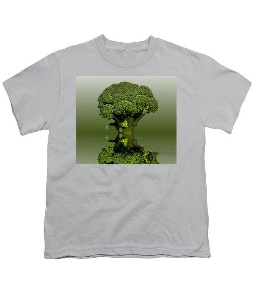 Broccoli Green Veg Youth T-Shirt by David French