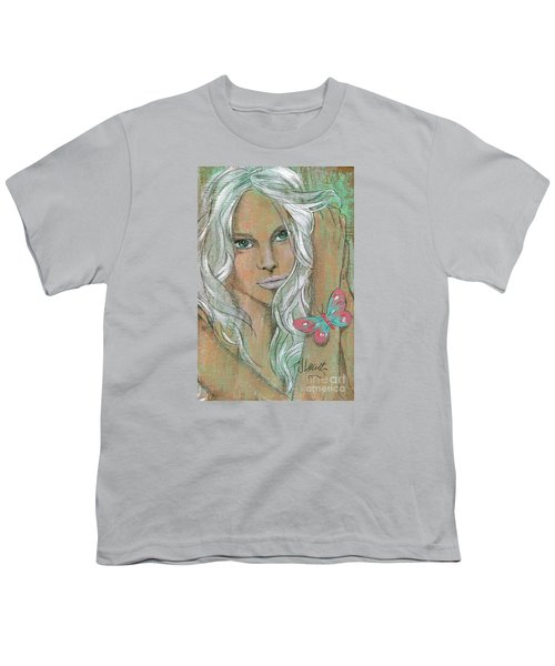 Butterfly Youth T-Shirt by P J Lewis