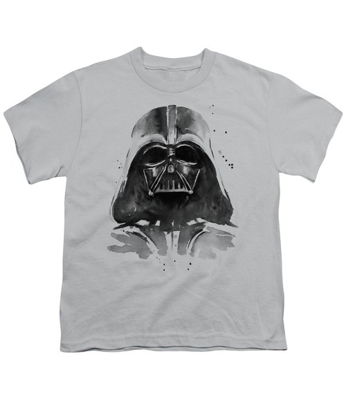 Darth Vader Watercolor Youth T-Shirt by Olga Shvartsur
