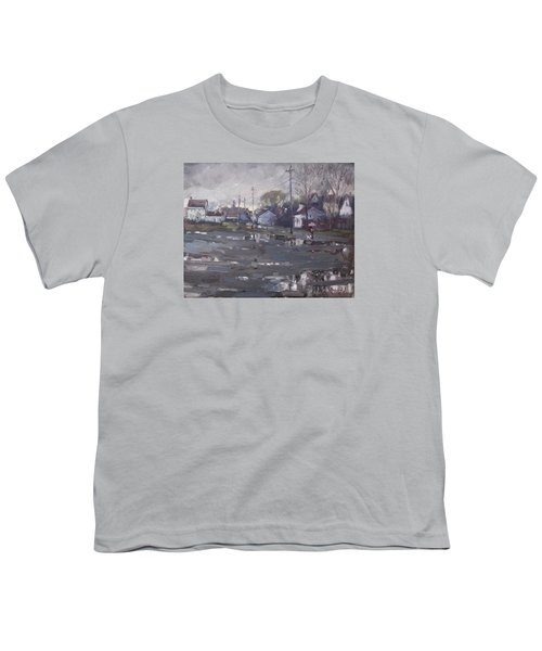 Gloomy And Rainy Day By Hyde Park Youth T-Shirt by Ylli Haruni