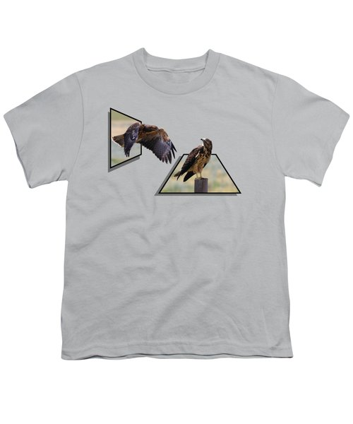 Hawks Youth T-Shirt by Shane Bechler