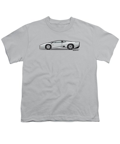 Jag Xj220 Spa Silver Youth T-Shirt by Monkey Crisis On Mars