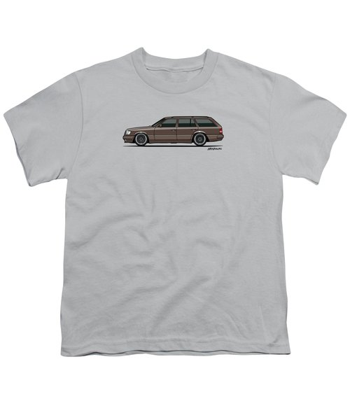 Mercedes Benz W124 E-class 300te Wagon - Anthracite Grey Youth T-Shirt by Monkey Crisis On Mars