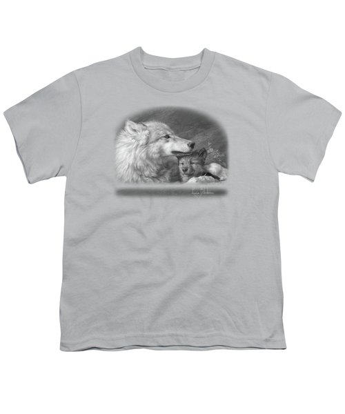 Mother's Love - Black And White Youth T-Shirt by Lucie Bilodeau