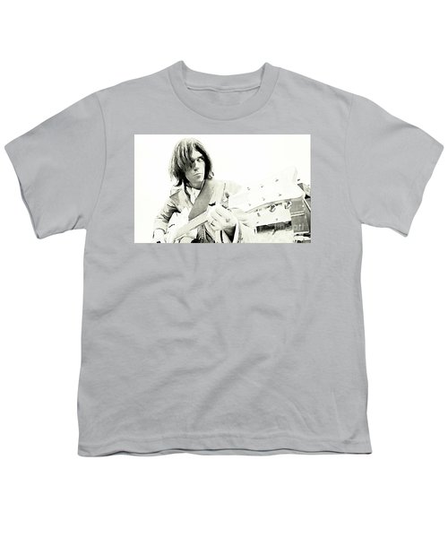 Neil Young Watercolor Youth T-Shirt by John Malone