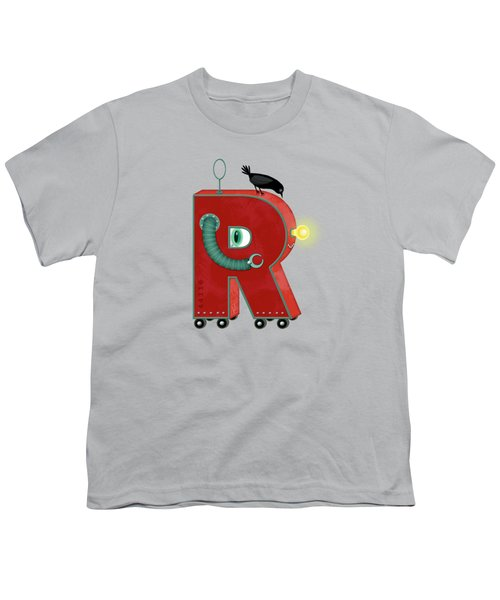 R Is For Robot Youth T-Shirt by Valerie Drake Lesiak