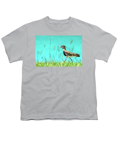 Southern Lapwing Youth T-Shirt by Randy Scherkenbach