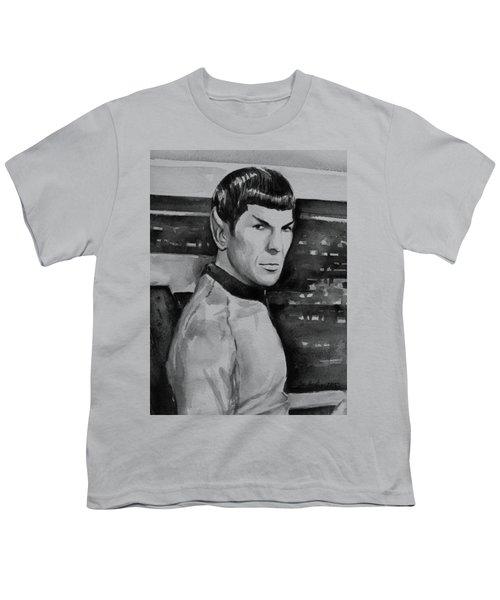 Spock Youth T-Shirt by Olga Shvartsur