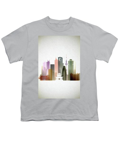 Tokyo  Cityscape Youth T-Shirt by Dim Dom