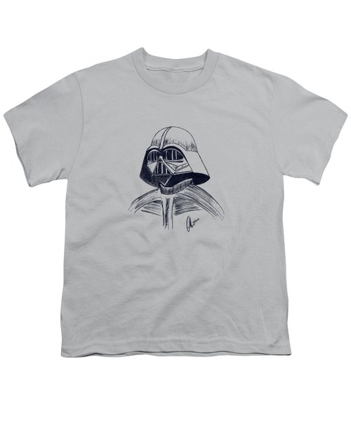 Vader Sketch Youth T-Shirt by Chris Thomas