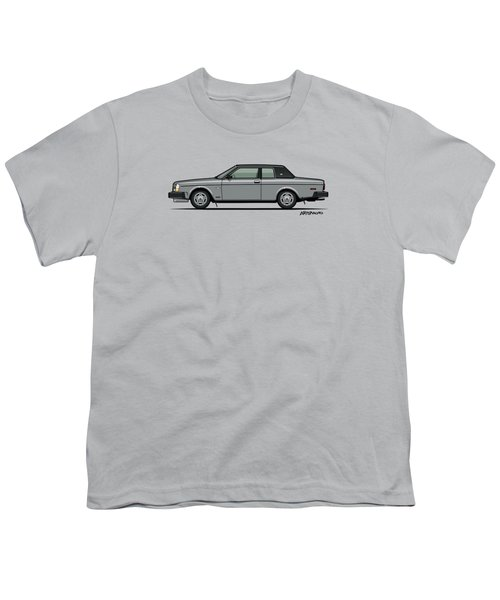 Volvo 262c Bertone Brick Coupe 200 Series Silver Youth T-Shirt by Monkey Crisis On Mars