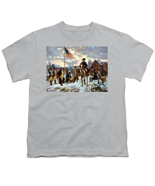 Washington At Valley Forge Youth T-Shirt by War Is Hell Store