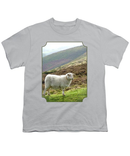 Welsh Mountain Sheep Youth T-Shirt by Gill Billington