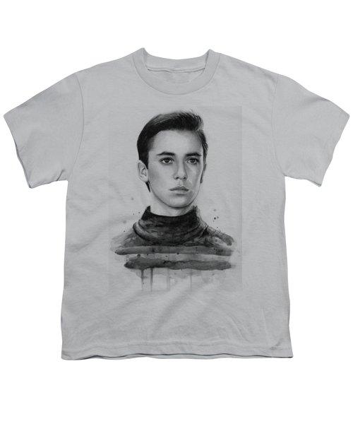 Wesley Crusher Star Trek Fan Art Youth T-Shirt by Olga Shvartsur