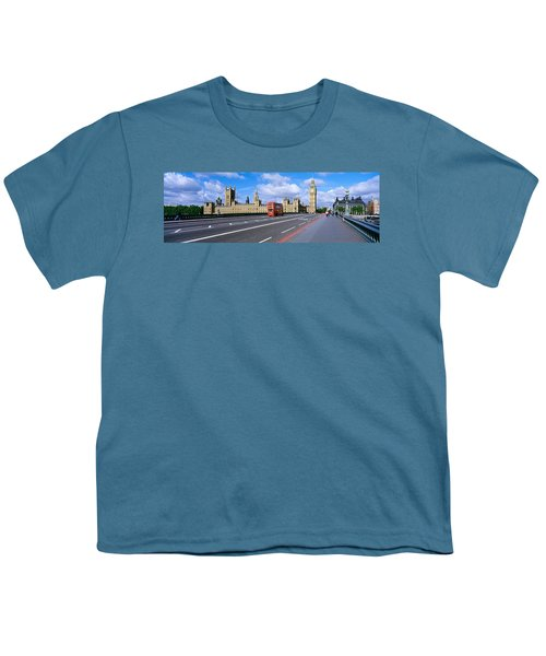 Parliament Big Ben London England Youth T-Shirt by Panoramic Images