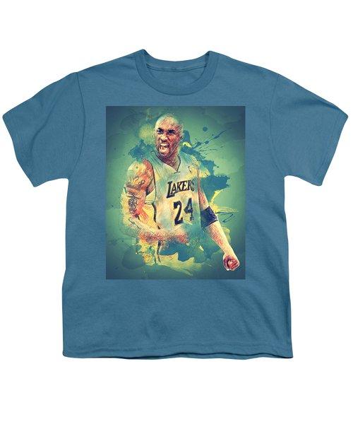 Kobe Bryant Youth T-Shirt by Taylan Soyturk