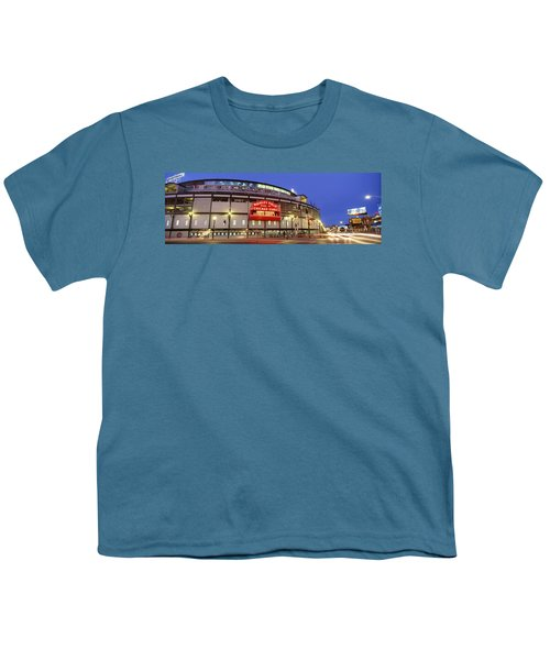 Usa, Illinois, Chicago, Cubs, Baseball Youth T-Shirt by Panoramic Images
