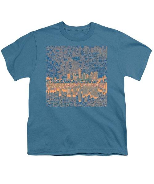Austin Texas Skyline 2 Youth T-Shirt by Bekim Art