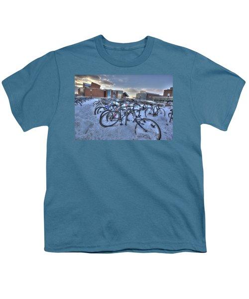 Bikes At University Of Minnesota  Youth T-Shirt by Amanda Stadther